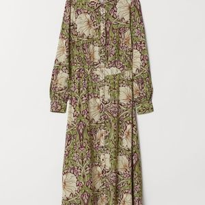 William Morris & Co. x H&M Calf-Length Shirt Dress
